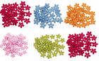 Brand New 300Pcs Wood Sewing Buttons 15mm  Flower 2 Holes Scrap booking