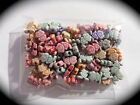 Approx 100 x RESIN BEADS Butterfly Frog Fish Star Designs MIXED COLOUR PACK