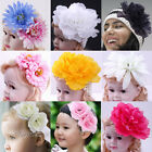 Hair elastic Crochet Bow head band Flower/Baby toddler Girl/Wedding Accessory