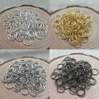 Wholesale 300/2000pc Silver/Gold Plated Open Metal Jumping Rings Finding 4/6/8mm
