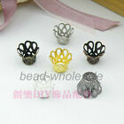 5x6mm,7x9mm New Fashion Wine Class Flower Bead Caps 6 Colors for pick