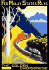 TT76 Vintage Malay Golden Chersonese Malaysia Railway Travel Poster A2/A3/A4