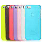 Hot Color 0.5mm Ultra Slim Matte Clear Back Hard Case Cover Skin For iPhone 5 5S