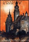 T74 Vintage Krakow Poland Polish Travel Poster Re-Print A1/A2/A3/A4