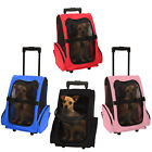 OxGord Pet Carrier Dog Cat Rolling Back Pack Travel Airline Wheel Luggage Bag