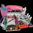All in One 9W UV Gel Lamp Electric Drill 6 Bits Nail Art Polish TIPS SET KIT 265