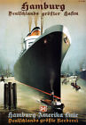 TX197 Vintage Hamburg America Line Liner Shipping Travel Poster RePrint A2/A3/A4