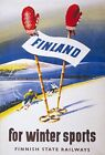 TX19 Vintage 1949 Finland Winter Sports Finnish Travel Poster A1/A2/A3/A4