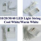 AA Battery Power Mini 10/20/30/40 LEDs Warm/White Christmas String Fairy Lights