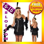 I47 1920s Charleston Flapper 20s Chicago Gangster Fancy Dress Up Party Costume