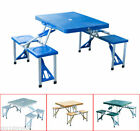 Outdoor Portable Picnic Table Folding Camping Table with 4 Seats New