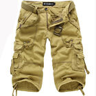 R53 Men's Cool Pants Shorts Cotton Hobo Relaxed Fit Cargo Shorts U No Belt