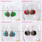 Fashion 28mm coin beads tibetan silver dangle earrings 1 pair select Seed_beauty
