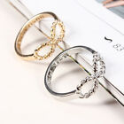 Women Fashion Charms Punk Rock Infinite Infinity Bowknot Finger Ring Rings Gift