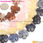 "20mm flower gemstone jewelry making loose beads strand 15"" 11 materials select"