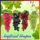 Vintage Lifelike Rubberized Artificial Grapes Decorative Plastic Fake Fruit Food