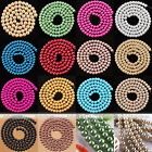 Women Fashion Jewelry DIY Loose Round Glass Pearl Spacer Bead Strand 4/6/8/10mm