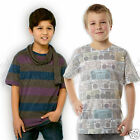 Boys T Shirt T Shirt Ghetto Blaster Print Top Kids Age 9-10 & 11-12 Last Ones !