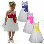 Flower Girl Dress BRIDESMAID Dress Girls Formal Occasion PARTY DRESS Age 2-12 Y
