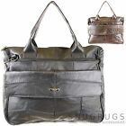 Large Real Leather Laptop Work Bag Messenger style Detachable Shoulder Strap