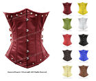 Genuine Full Steel Boned Underbust Heavy Lacing Leather Shaper Corset #H9030