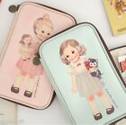 Paper Doll Mate Multi Pouch L Passport Pencase Makeup Cosmetic Storage Organizer