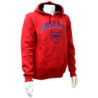 OFFICIAL ARSENAL FC MENS RED CREST FLEECE HOODY SWEATER JUMPER TOP NEW GIFT XMAS