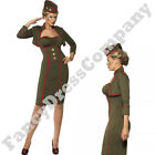 Commander Army Girl Officer Combat Military Uniform Fancy Dress Costume Womens