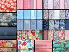 100% Cotton Fabric Fat Quarters, Quilting And Patchwork, Bundles and Singles