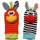 1 Pair Baby Funny Wrist Watch Foot Socks Rattle Hand Foot Finder Toys Gifts - ZC