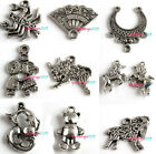Free Postage 20pcs Mixed Styles Charms Silver Tone Alloy Pendants PICK