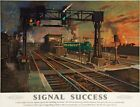 TX336 Vintage Signal Success British Railways Travel Poster Re-Print A2/A3/A4