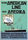 TX230 Vintage American Line Hamburg Shipping Cruise Travel Poster A2/A3/A4