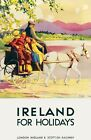TX292 Vintage Ireland For Holidays LMS Railway Travel Poster RePrint A2/A3/A4