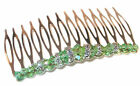 PERIDOT GREEN Crystal Hair Comb Swarovski Crystal Elements