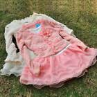 Girls Outfit Jacket Tutu Top Chiffon Dress Toddler Party Pageant clothes SZ 2-5T