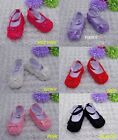 New Baby Girls Rose Bow Flowers Skidproof Soft Cloth Bottom Sloe Infant Shoes