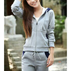 "2PC Women""s Sport suits Casual Long Sleeve Tracksuit Cardigan Sportswear  [HA]"