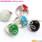Fashion 21x25mm oval beads tibetan silver ring size US #6-#9 ,6 materials select