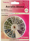 Acrylic GEM STONE WHEEL (mixed sizes of stones)  Various Colour Themes available
