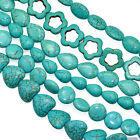 Blue Turquoise Pulverised Semi-precious Gemstone Beads for Jewellery Making