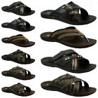 NEW MENS BOYS BEACH FLIP FLOPS SUMMER SHOWER POOL GYM MULES SHOES SANDALS BROWN