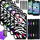 Wholesale Zebra Hybrid Case For iPhone 5 5s 5g Rugged Impact Rubber Cover Lot
