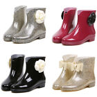 new fashion women girl's multi-colored floral bow-knot rain boots X497