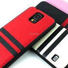For Samsung Galaxy S5 SV Slim Fit Premium Matte PU Leather Hybrid TPU Case Cover
