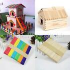 50X Wooden Lollipop Popsicle Sticks Party Kids Crafts Ice Lolly Cake Pops Making