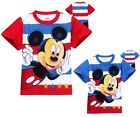 Casual Kids Boys Toddler Girls Short Sleeve Mickey Mouse T-Shirt Tops 2-8Years