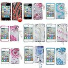 Deluxe 3D Chain Diamond Bling Hard Case Cover For Apple iPod Touch 4 4G 4th Gen