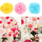 Hot Colorful Tissue Paper Pom Flowers Balls Wedding Flower Birthday Party Decor