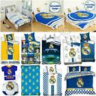 OFFICIAL REAL MADRID SINGLE & DOUBLE DUVET COVERS BEDDING BEDROOM FOOTBALL NEW